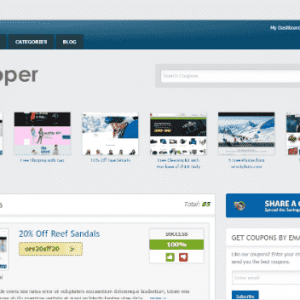 Clipper site de cupom Wordpress